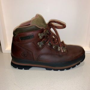 WOMEN'S TIMBERLAND LEATHER EURO HIKER BOOTS
